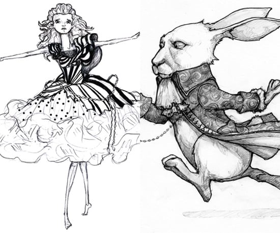 Alice in Wonderland Costume Sketches by Colleen Atwood