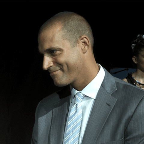 Nigel Barker Interview at Mara Hoffman Spring 2012 Presentation