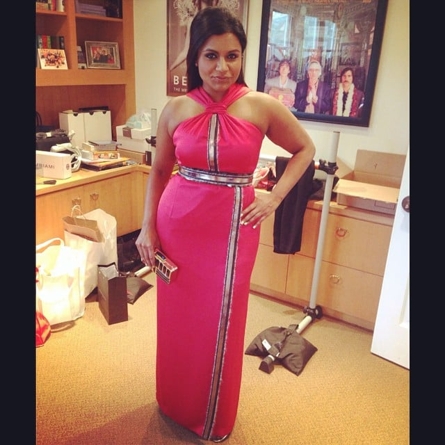 Mindy Kaling let her followers know she was ready to take on the Emmys red carpet.