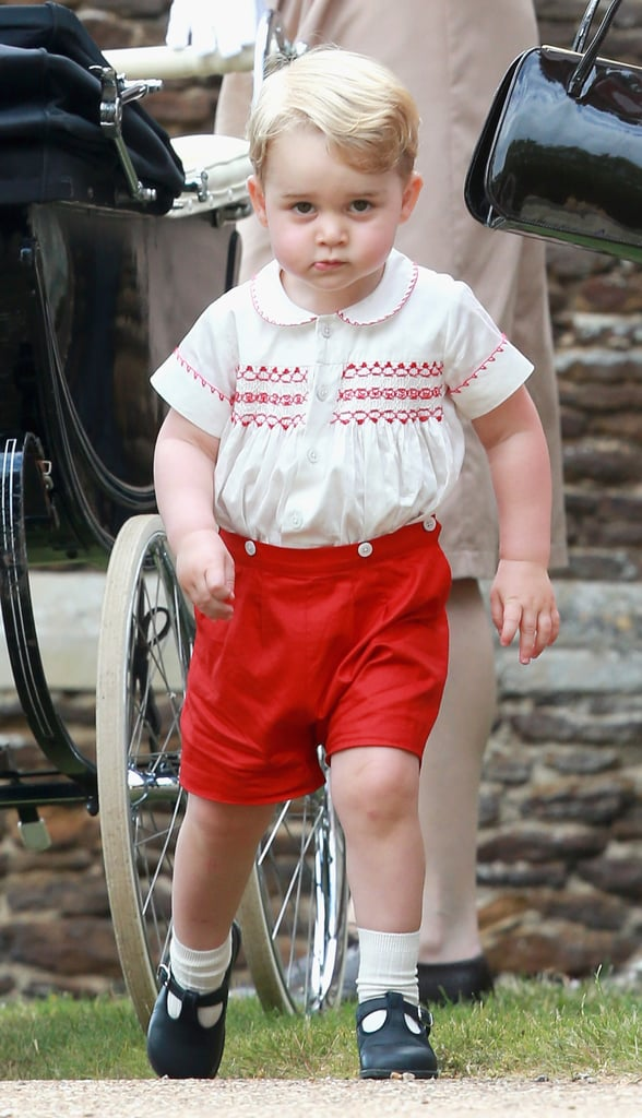 """Prince William on George's personality: """"He's a little monkey."""" Prince Charles on how he's a handful: He told reporters that Princess Charlotte sleeps through the night and it's been much easier on Kate than it was with Prince George. William on his son's energy: He said Prince George """"never stops moving."""" William on George's first Christmas: """"George will be bouncing around like a rabbit."""" Kate on why George didn't go to India:""""Because George is too naughty. He would be running all over the place."""""""