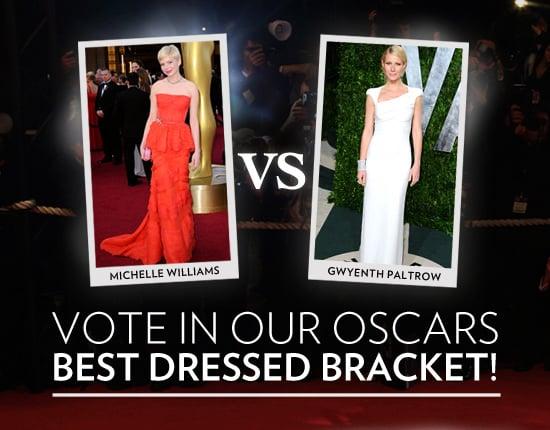 Oscars 2012 Best Dressed Bracket Game