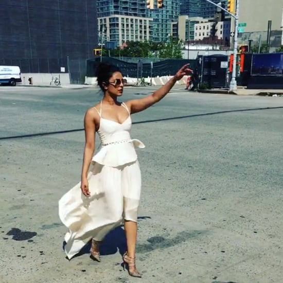 Priyanka Chopra Wearing White Dress in New York City