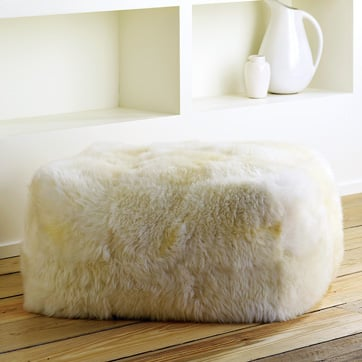 Love It or Hate It? West Elm Sheepskin Pouf