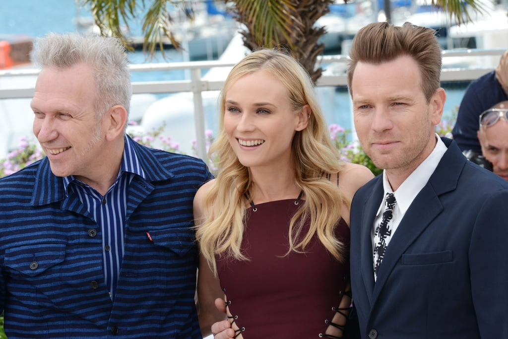 Diane Kruger had a laugh with fellow jurors Ewan McGregor and Jean Paul Gaultier at the start of the Cannes Film Festival.