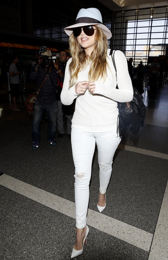 Khloé jetted out of LA on Monday.