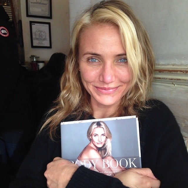 """Cameron Diaz clutched her new tome, The Body Book, saying, """"One of my proudest moments!"""" Source: Instagram user diaz_cameron"""