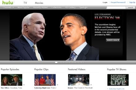 Daily Tech: Watch the Presidential Debates Online With Hulu!