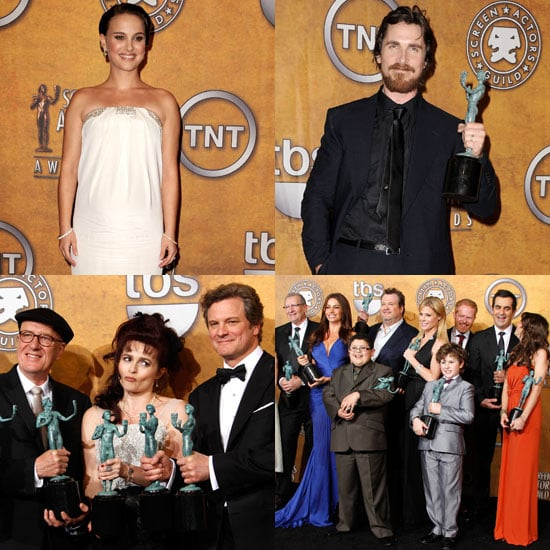 Pictures of The King's Speech Stars, Natalie Portman, the Cast of Modern Family in the 2011 SAG Awards Press Room 2011-01-31 07:43:23
