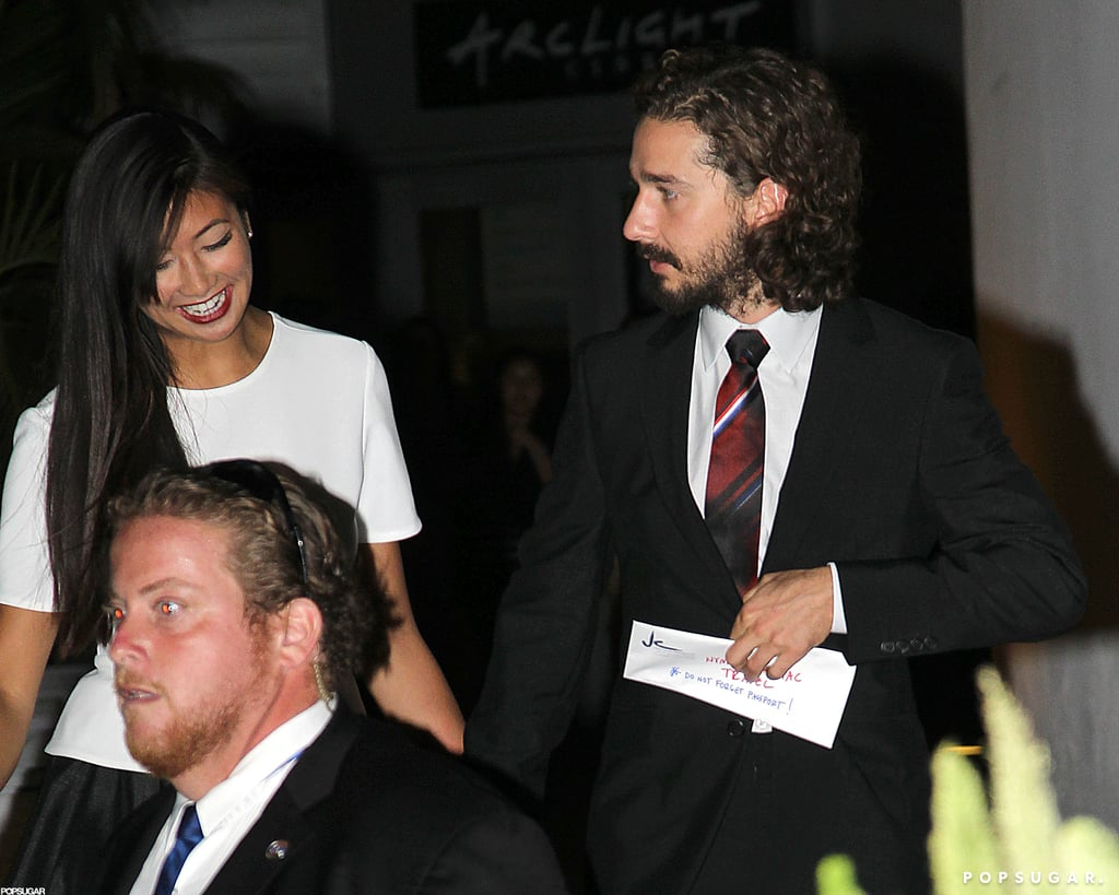 Shia LaBeouf only had eyes for girlfriend Karolyn Pho.