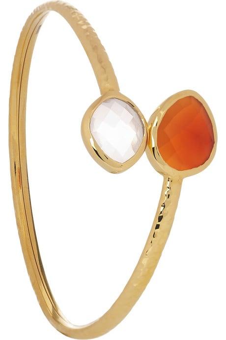 Rose Quartz Gold Bracelet