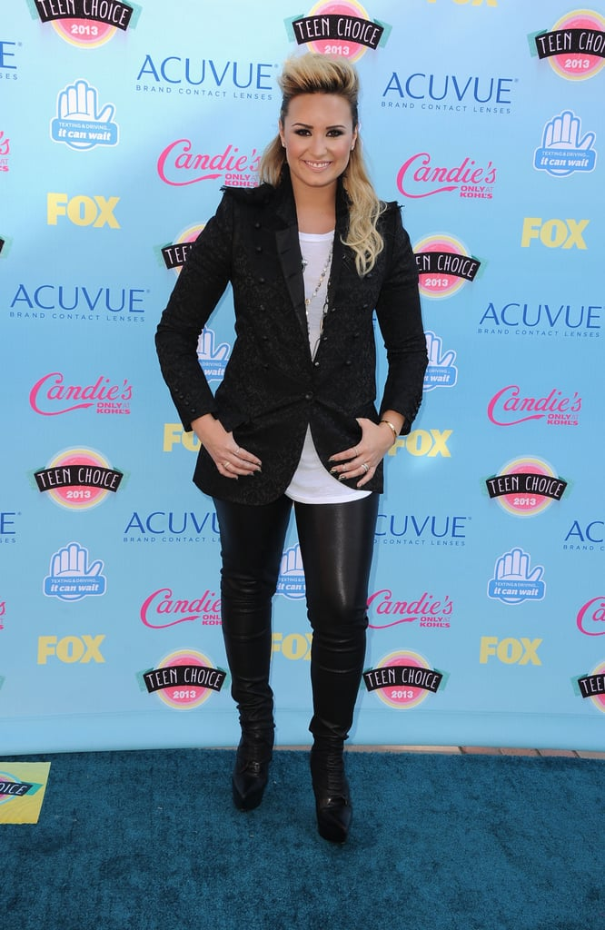 Demi Lovato attended the 2013 Teen Choice Awards.