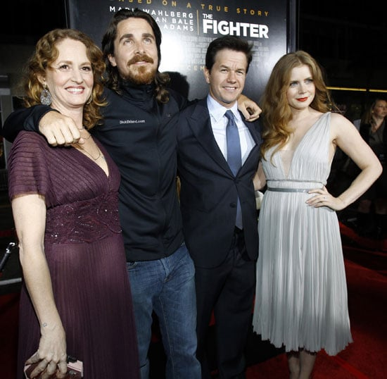 Pictures of Christian Bale, Mark Wahlberg, Amy Adams, and Melissa Leo at the LA Premiere of The Fighter 2010-12-07 10:35:00