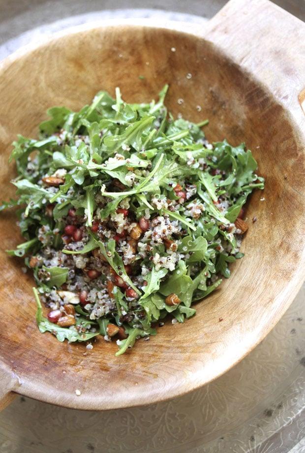 Pomegranate, Arugula, and Almond Quinoa Salad