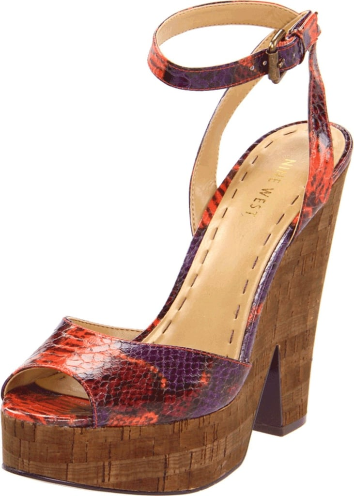 Pair these bright, ankle-strap sandals with cropped pants or a neutral dress to show off their bold colors.  Nine West Troischic Sandals ($99)