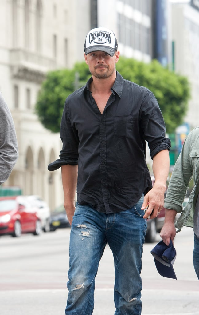 On Saturday, Josh Duhamel was spotted in LA, where he attended the LA Kings hockey game.