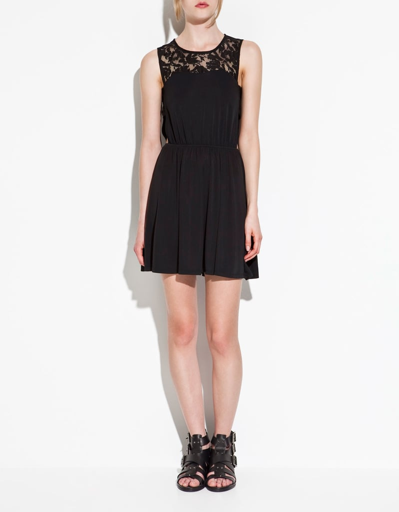 The perfect Summer take on the LBD, complete with a pretty lace inset.  Zara Dress With Lace Details ($36, originally $50)