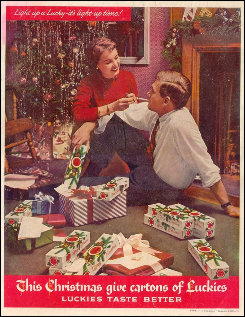 The couple that smokes together on Christmas stays together.
