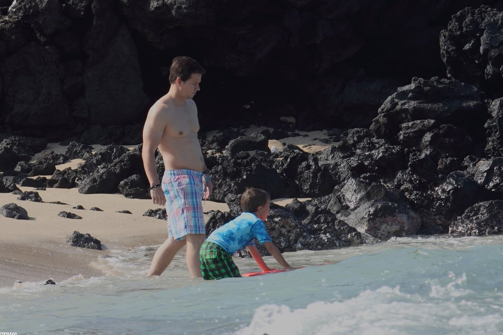 Mark Wahlberg took a vacation in Hawaii.