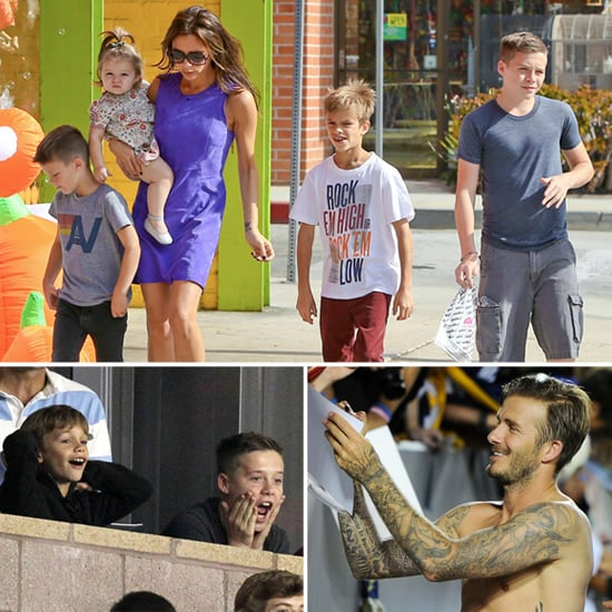 The Beckhams Fill Their Weekend With Halloween Prep, Date Night, and Shirtless David