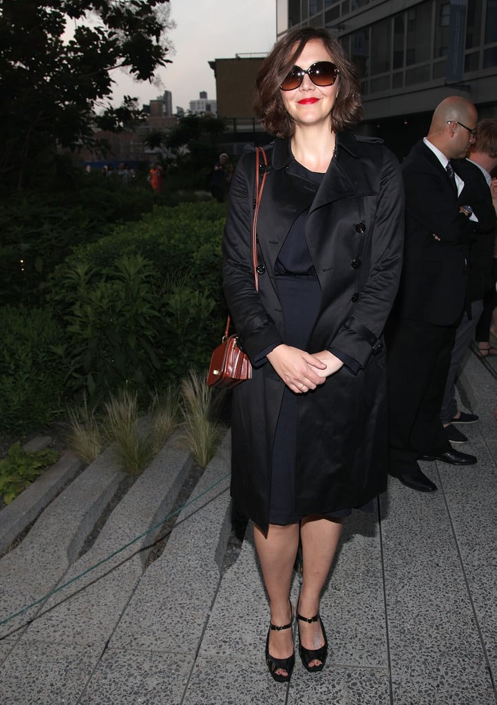 Maggie Gyllenhaal wore an all-black ensemble to Coach's Summer Party on the High Line in NYC.