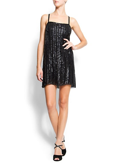 Be the life of the party in this Mango Sequin Dress ($100, originally $200) — just add a leather jacket or furry topper and heels.