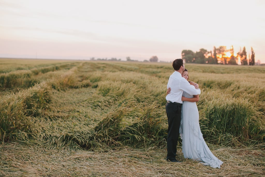 This Wedding Has Fireworks, Wheat Fields, and a Bride in Blue