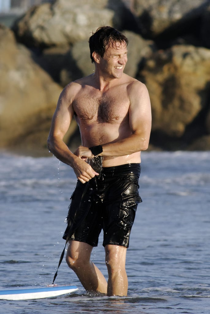 Stephen Moyer showed off his muscles in Venice Beach.