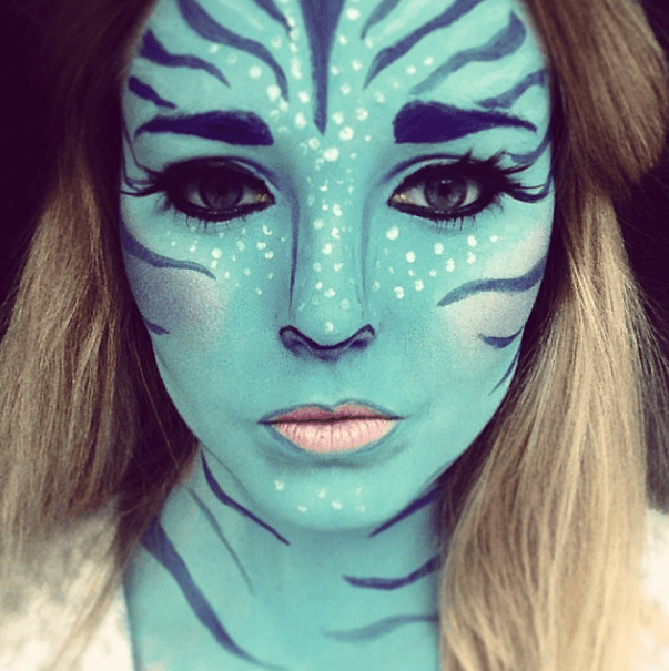 Real Avatar Girl: 13 Terrifyingly Cool Face-Paint Looks To
