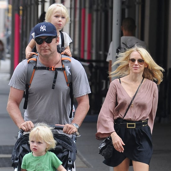 Naomi Watts and Liev Schreiber Stroll NYC With Kids Pictures