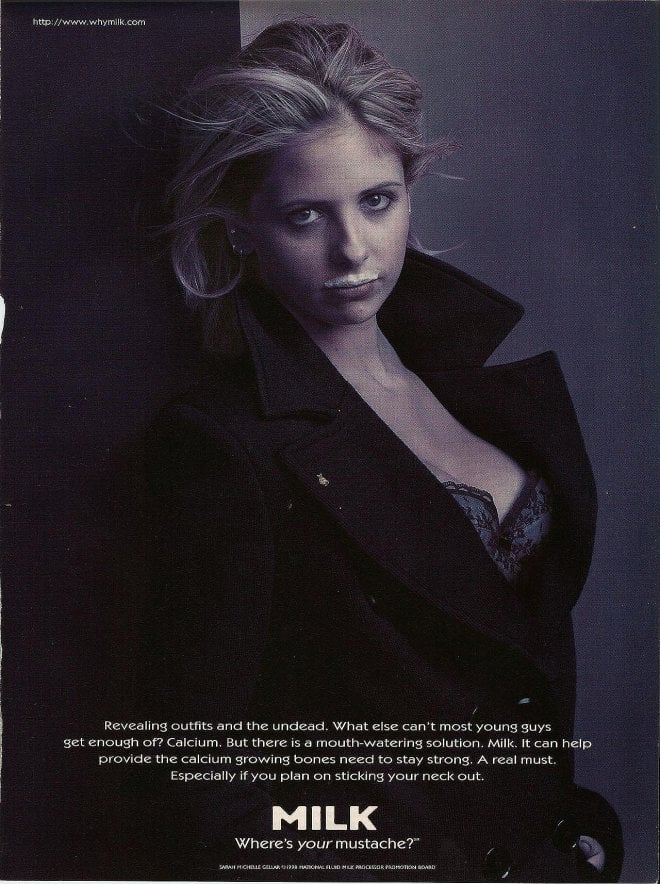 Sarah Michelle Gellar starred in an ad of her own while Buffy the Vampire Slayer was on the air.