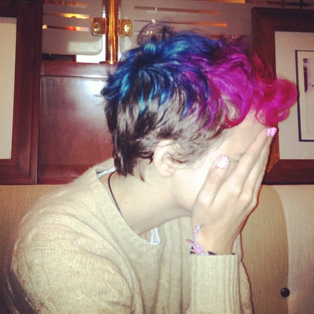 Samantha Ronson showed off her colourful new look. Source: Instagram user sofifiicom