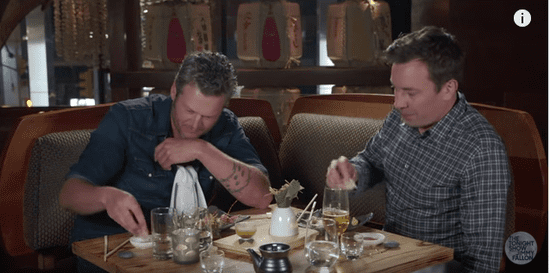 Here's A Video Of Blake Shelton Eating Sushi For The First Time And Acting Foolish About It