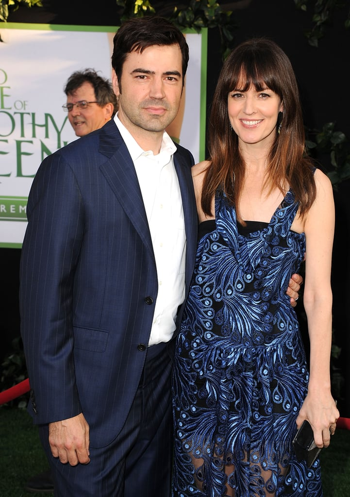 Husband and wife Ron Livingston and Rosemarie DeWitt smiled at the premiere of their new film The Odd Life of Timothy Green.