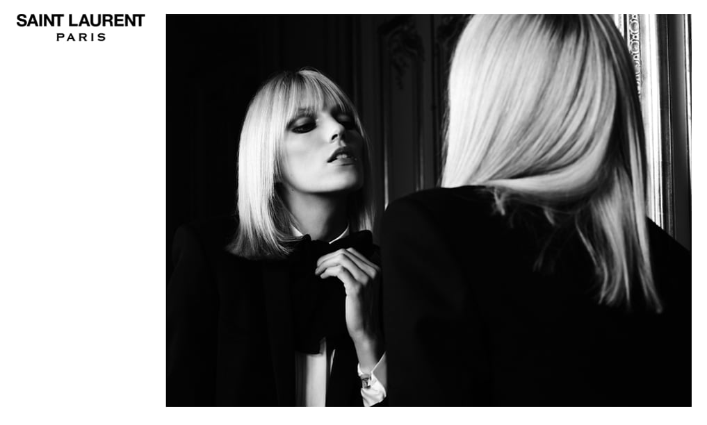 Anja Rubik For Saint Laurent