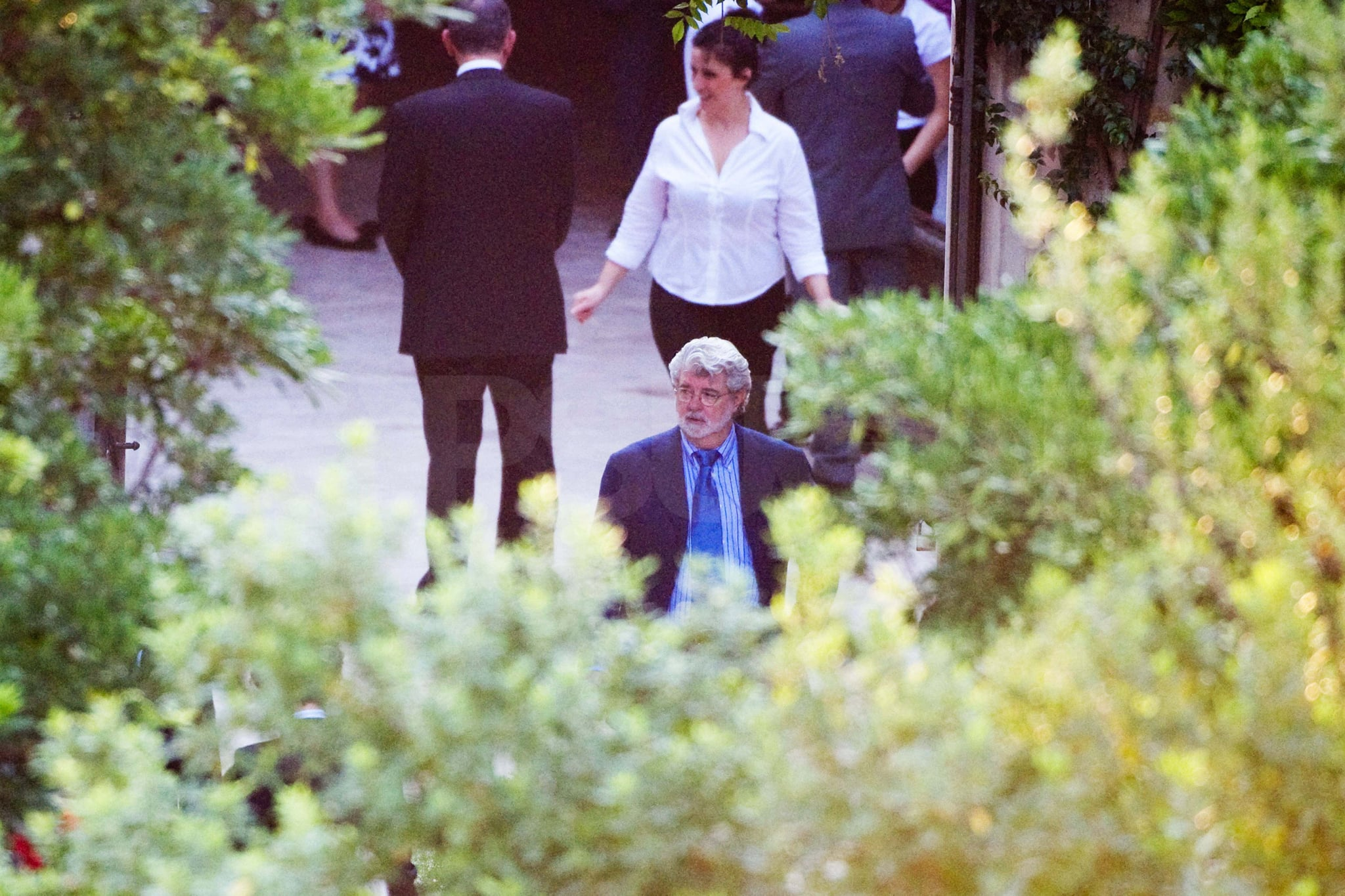 George Lucas was on hand for the happy event.