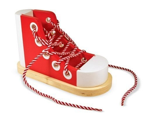 Wooden Lacing Sneaker ($13)