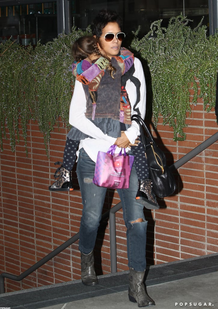 Halle Berry had her daughter, Nahla Aubry, with her on a movie date with Olivier Martinez.