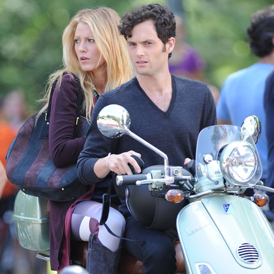 Blake Lively and Penn Badgley Shoot Gossip Girl | Pictures