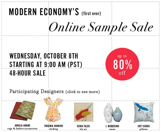 Sale Alert: Modern Economy First Ever Online Sale