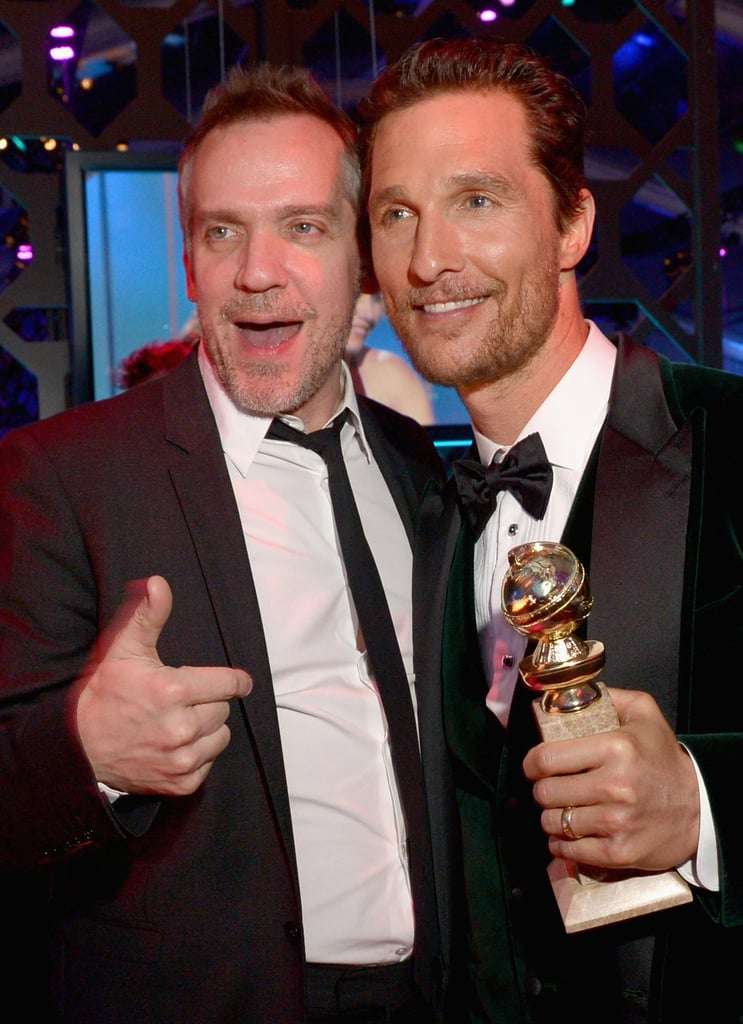 Matthew McConaughey celebrated his win with director Jean-Marc Vallée.