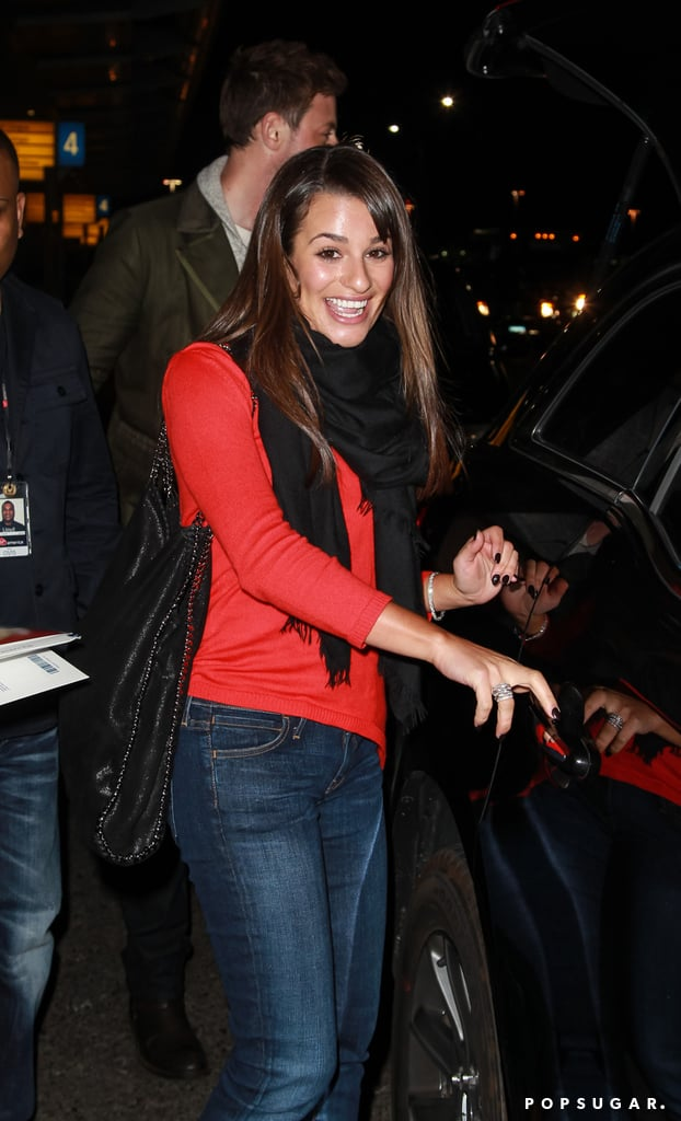 Lea Michele was all smiles in NYC.