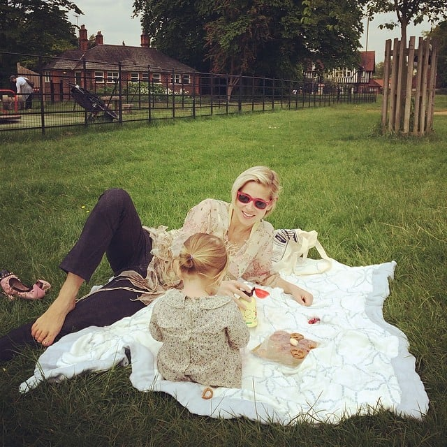 Elsa Pataky and her daughter, India Rose, enjoyed the nice weather in London. Source: Instagram user elsapatakyconfidential