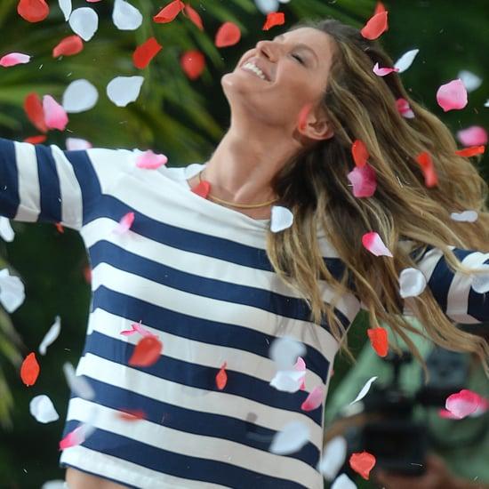 Gisele Bundchen in Rose Petals at Photo Shoot in Miami