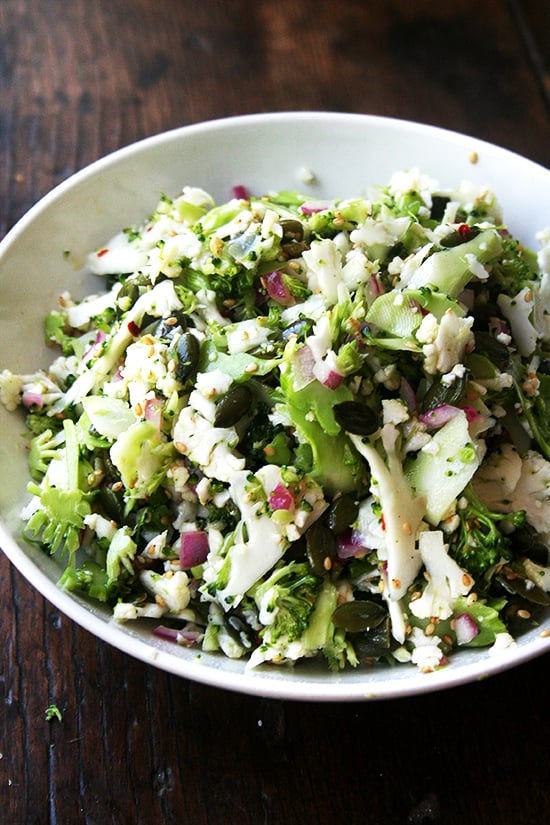 Cauliflower, Broccoli, and Sesame Salad