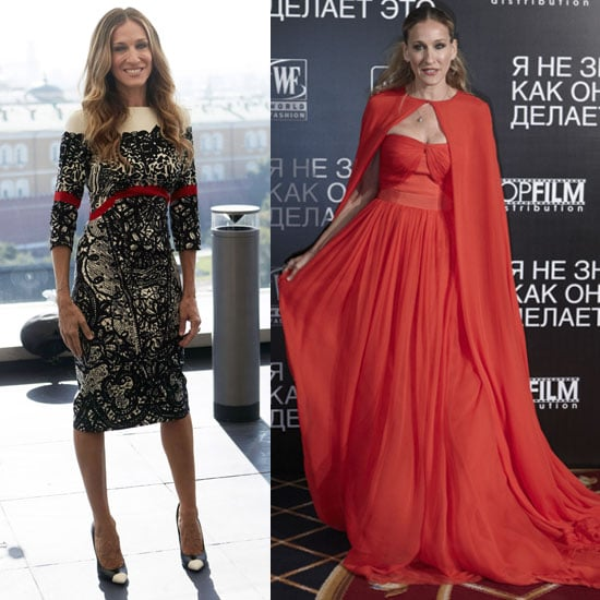 Sarah Jessica Parker Starts Her Press Tour With Two High-Fashion Ensembles!