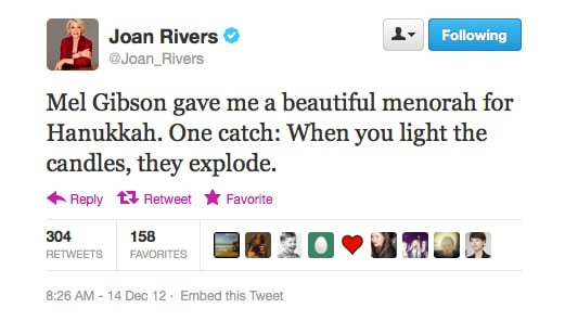 Joan Rivers has a little dig (she does it so well!).