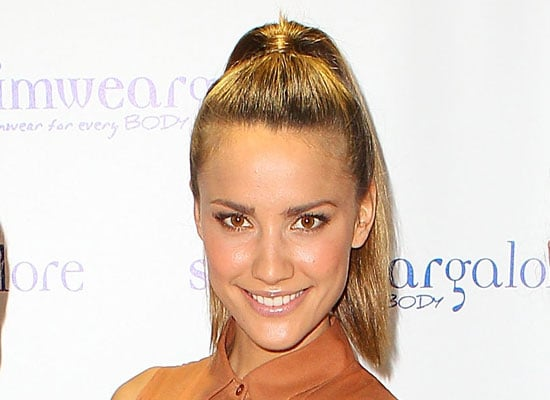 Check Out Rachael Finch's Sleek High Ponytail From All Angles