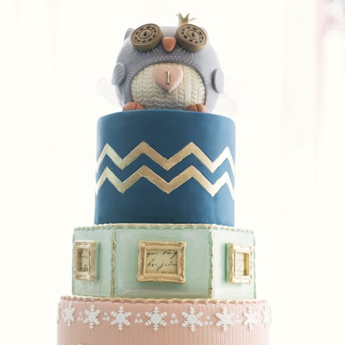 Winter Birthday Party With Cute Owl Cake