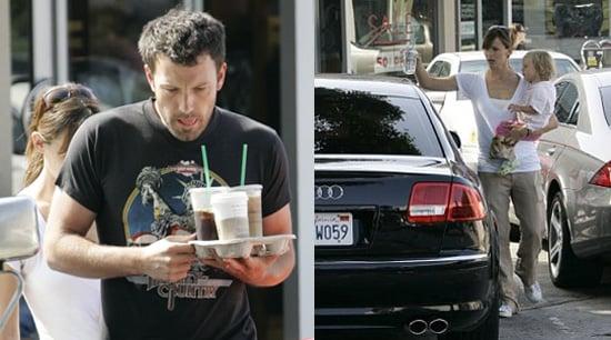 Ben, Jen and Violet Make a Stop for Starbucks