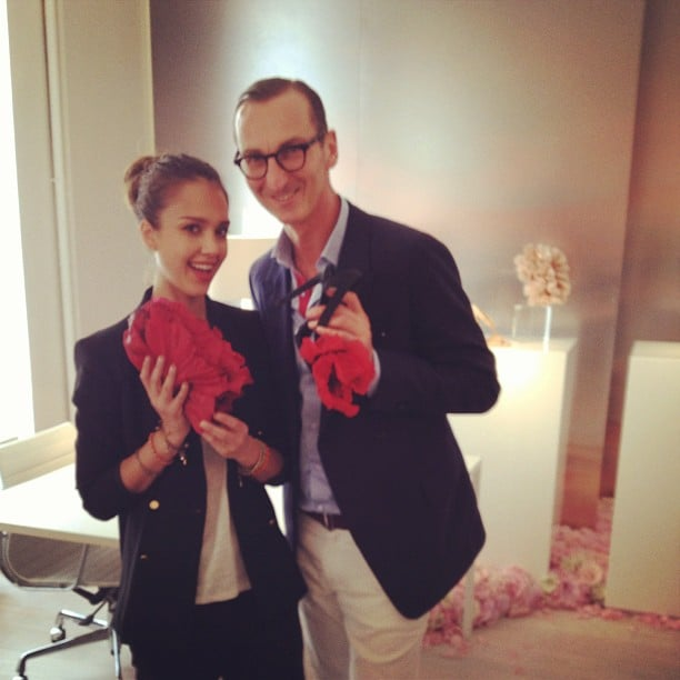 Jessica Alba spent time in Paris with designer Bruno Frisoni. Source: Instagram User jessicaalba